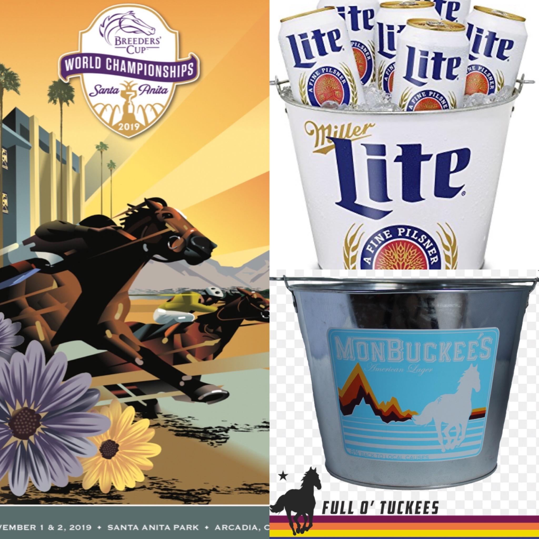 Breeders cup horse race bucket of beers