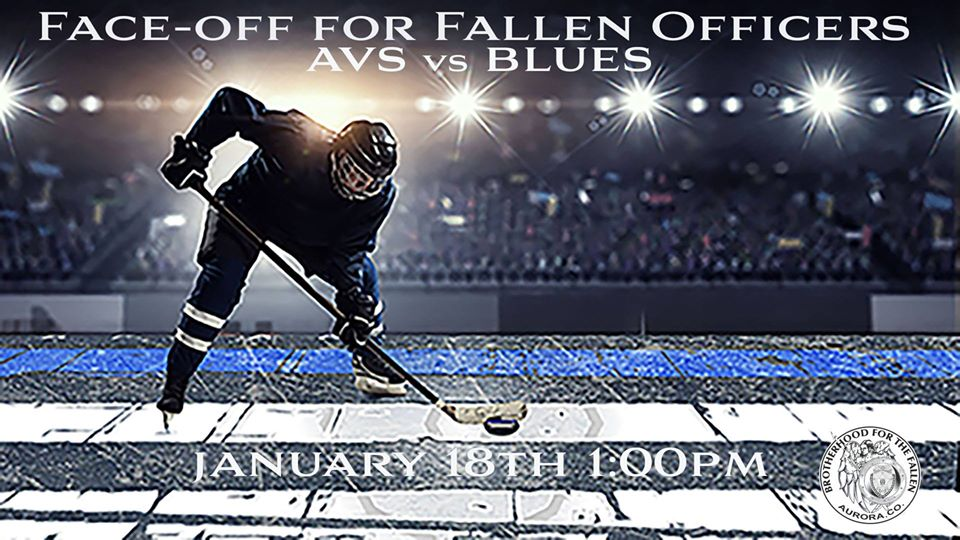 Face-off for fallen officers AVS vs Blues NHL Hockey