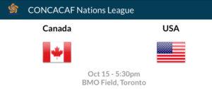 Canada USA soccer CONCACAF