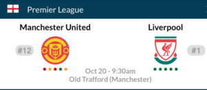 Liverpool soccer Manchester united soccer English premier league watch party