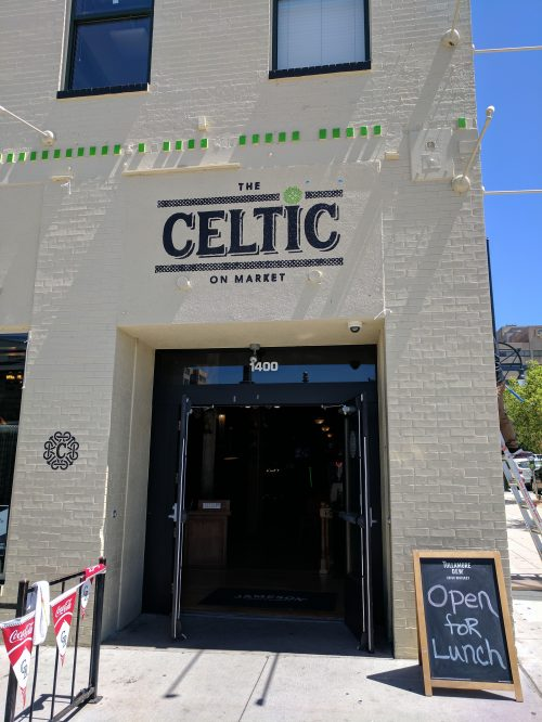 Celtic on Market Front Entrance Irish Pub